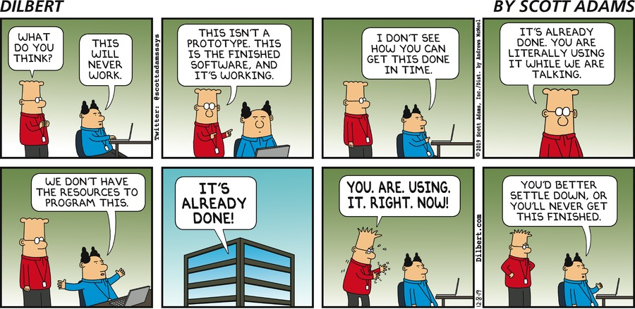 Software Already Done - Dilbert by Scott Adams