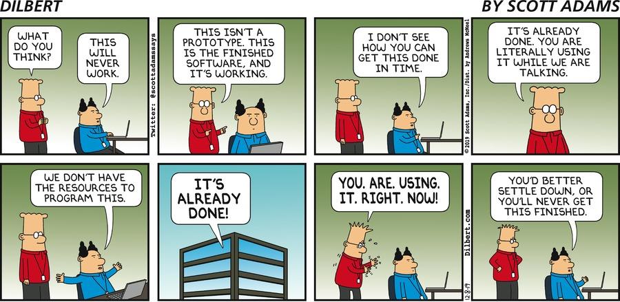 Software Already Done - Dilbert by Scott Adams
