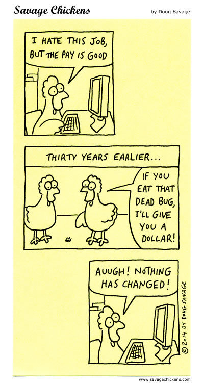 Savage Chickens Comic Strip for August 15, 2018