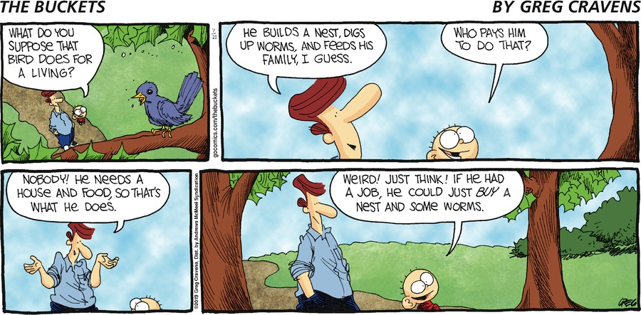 The Buckets Comic Strip for July 21, 2019