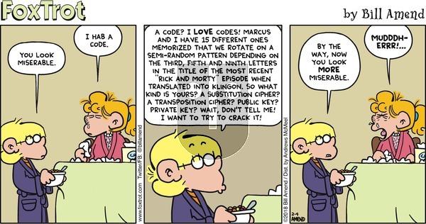 FoxTrot on Sunday February 4, 2018 Comic Strip