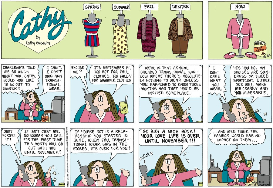 Cathy for Sep 14, 1997 Comic Strip