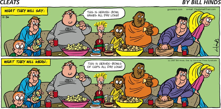 Cleats Comic Strip for December 30, 2007