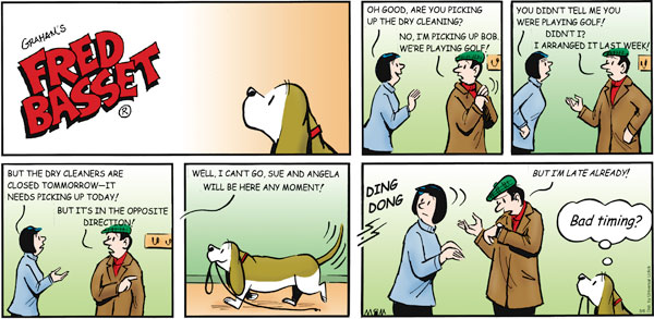 Fred Basset Comic Strip for March 06, 2011