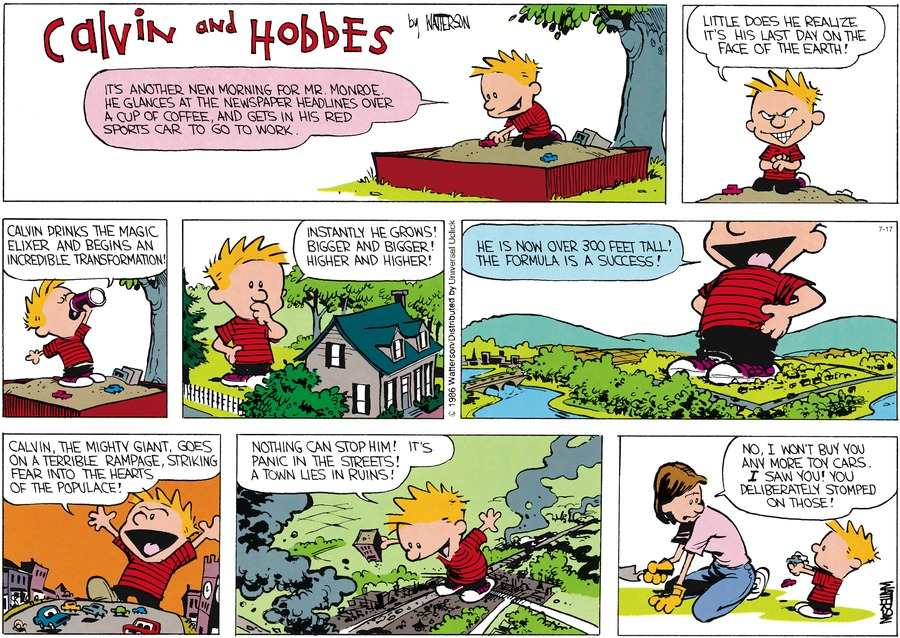 Calvin and Hobbes Comic Strip for July 17, 2016