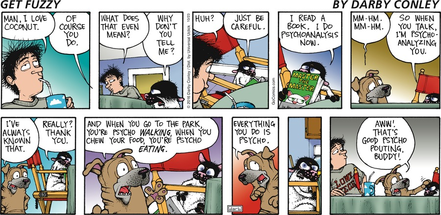Get Fuzzy for Oct 23, 2016 Comic Strip