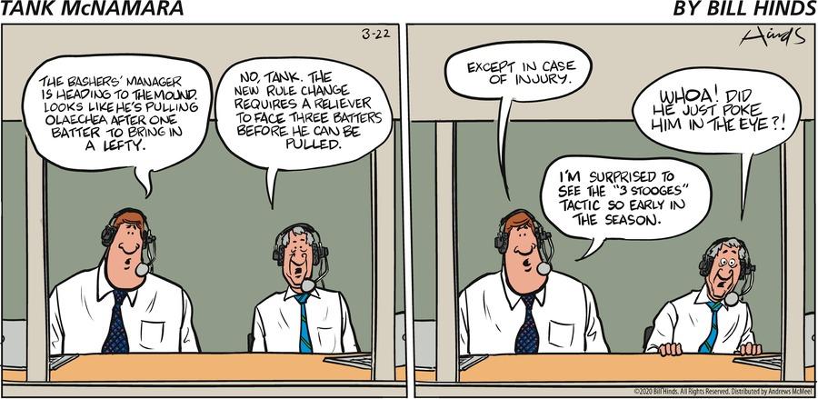 Tank McNamara Comic Strip for March 22, 2020