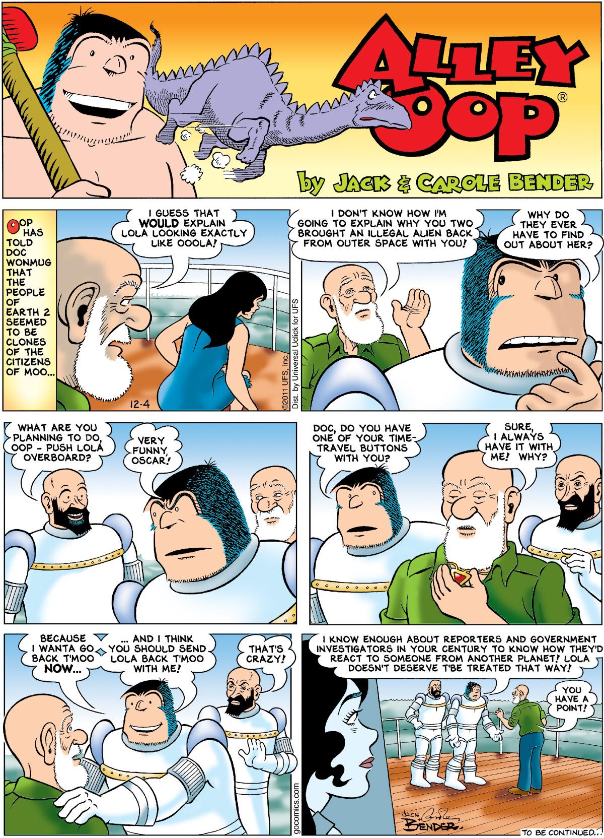 Alley Oop for Dec 4, 2011 Comic Strip
