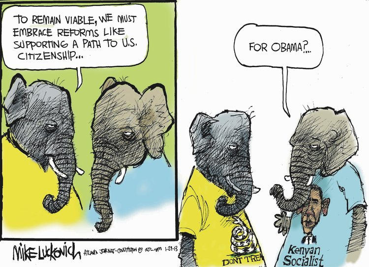 Mike Luckovich for Jan 29, 2013 Comic Strip
