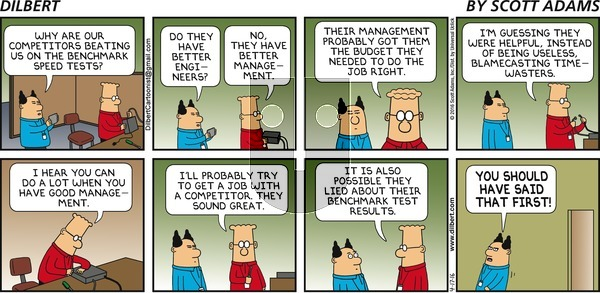 Dilbert on Sunday April 17, 2016 Comic Strip