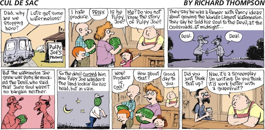 Cul de Sac for Jul 20, 2008 Comic Strip