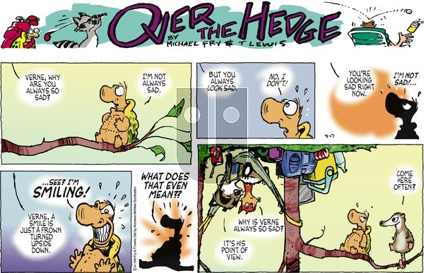 Over the Hedge on Sunday April 7, 2019 Comic Strip