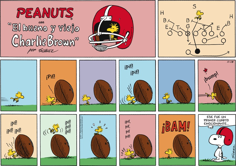 Peanuts en Español by Charles Schulz for November 18, 2018