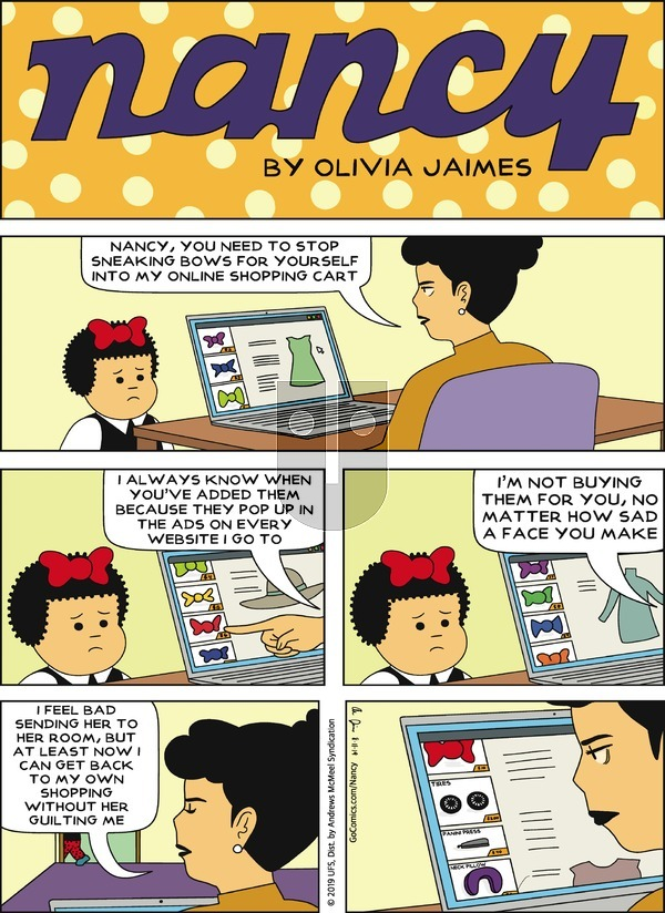 Nancy on Sunday August 11, 2019 Comic Strip