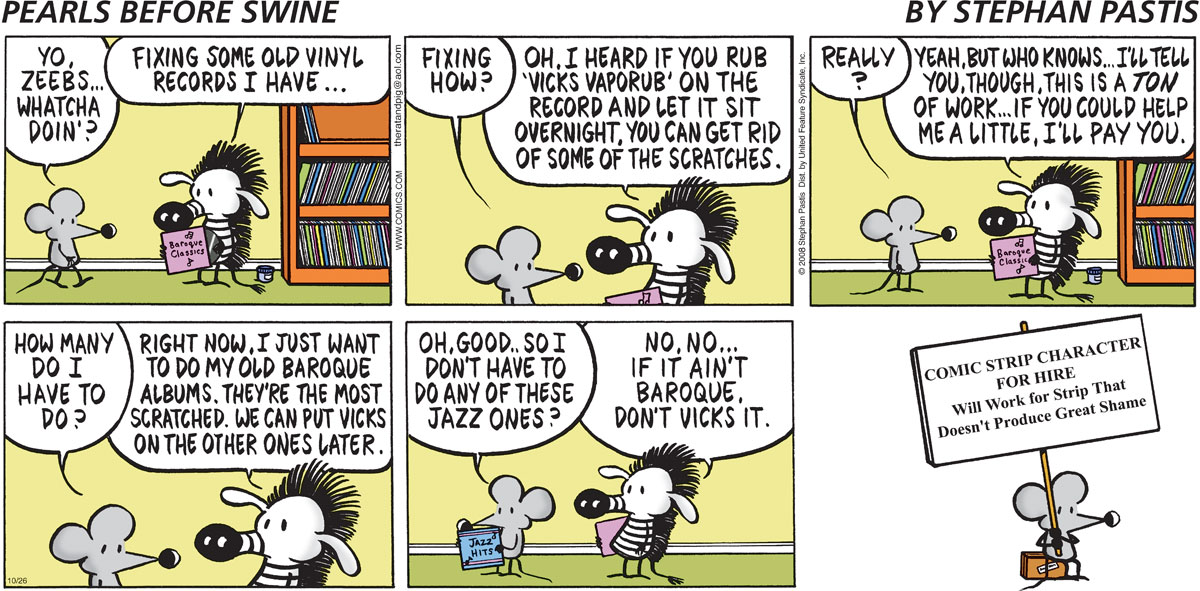 Pearls Before Swine Comic Strip for October 26, 2008