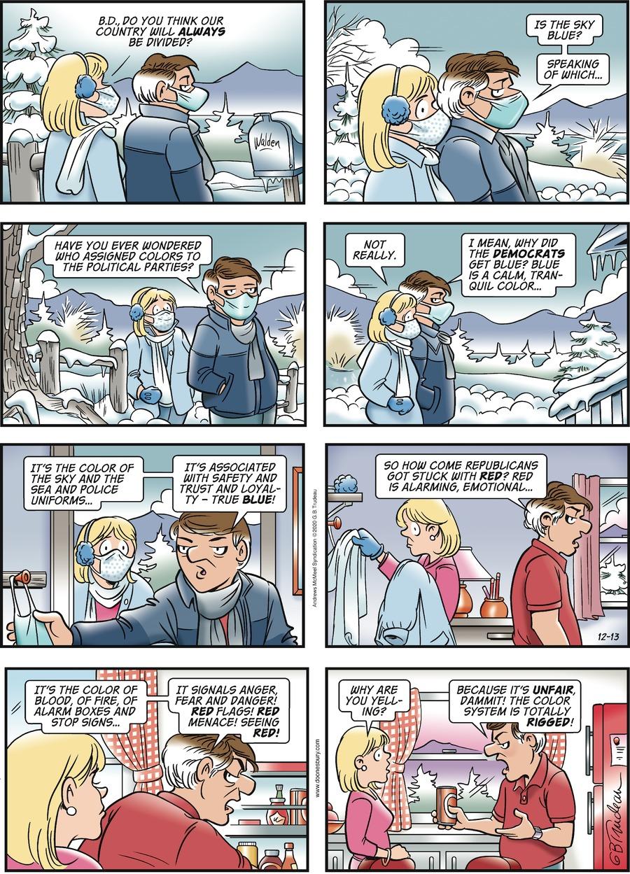Doonesbury Comic Strip for December 13, 2020