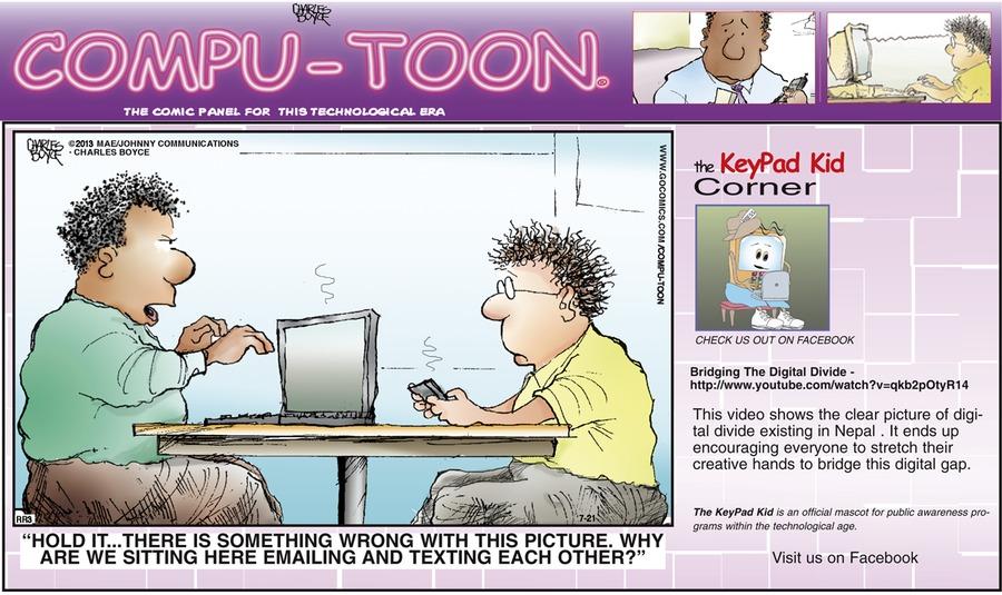 Compu-toon Comic Strip for July 21, 2013