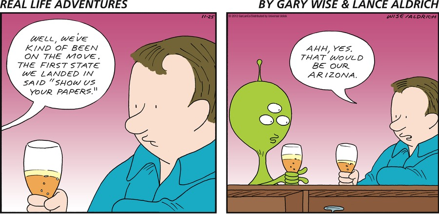 Real Life Adventures for Nov 25, 2012 Comic Strip