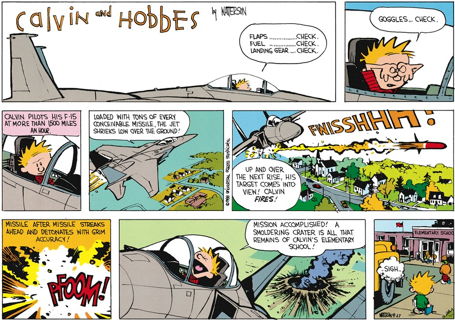 Calvin and Hobbes Comic Strip for November 06, 1988