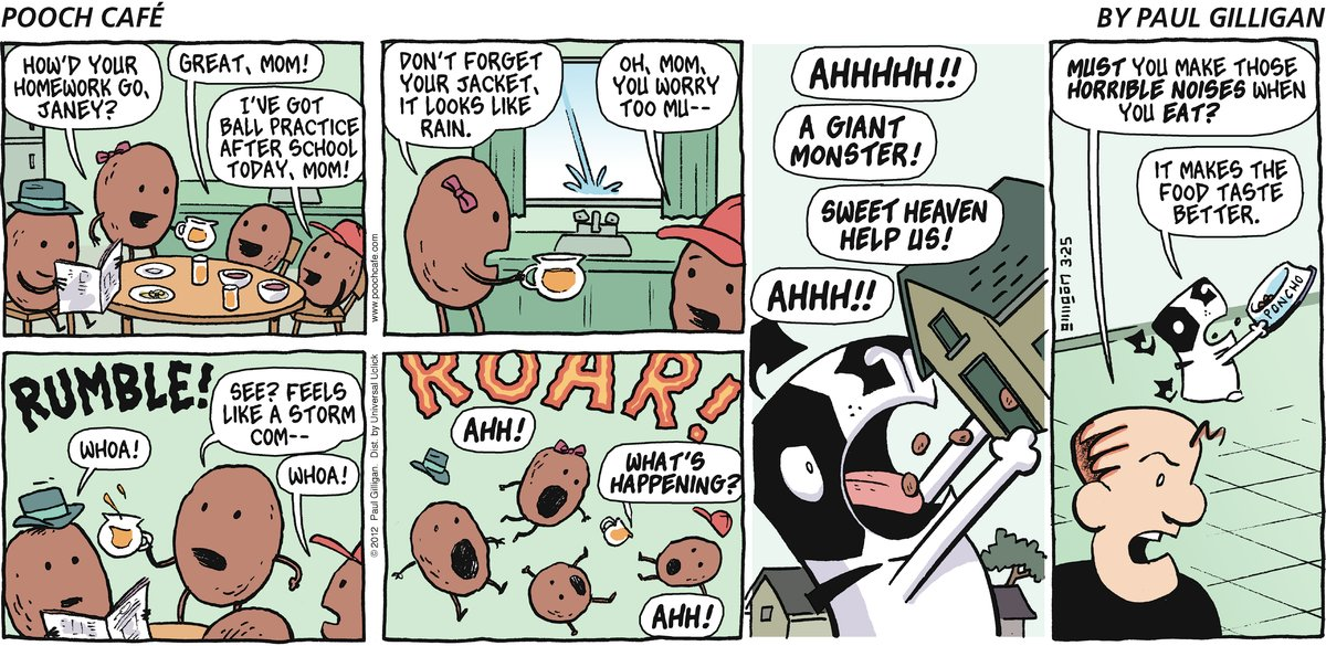 Pooch Cafe Comic Strip for March 25, 2012