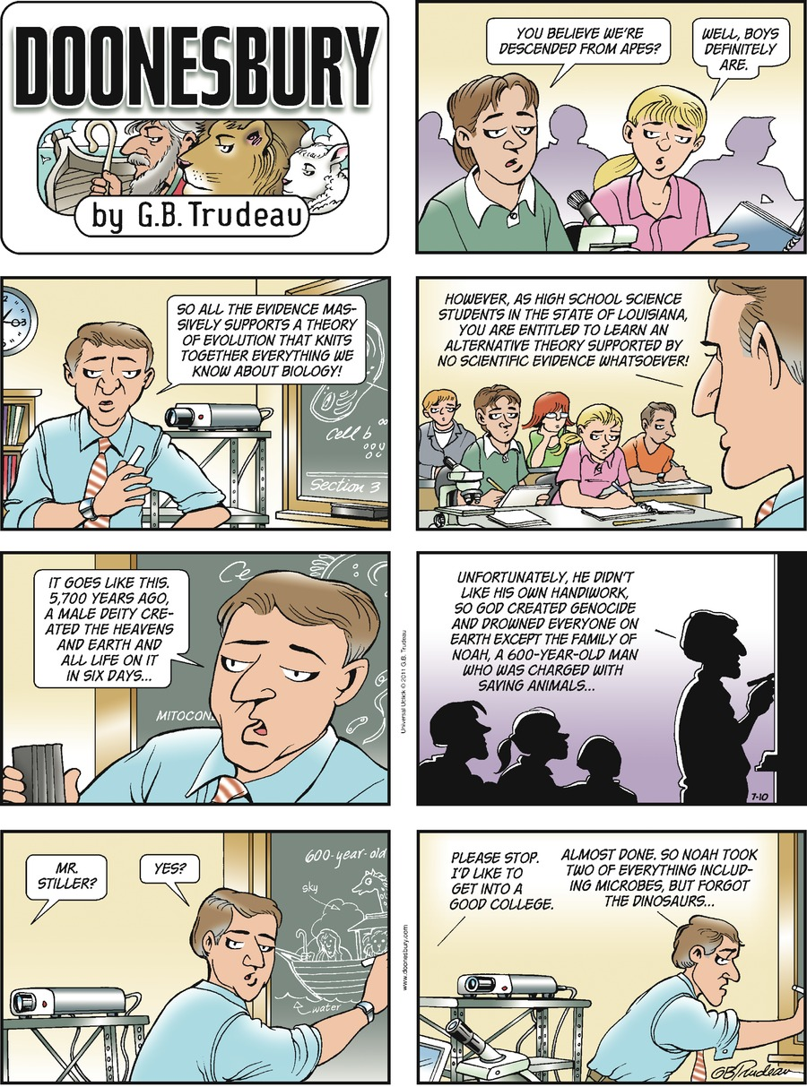 Doonesbury Comic Strip for July 10, 2011