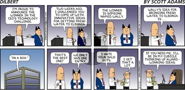 Dilbert on Sunday December 1, 2013 Comic Strip