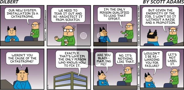 Dilbert on Sunday April 28, 2019 Comic Strip