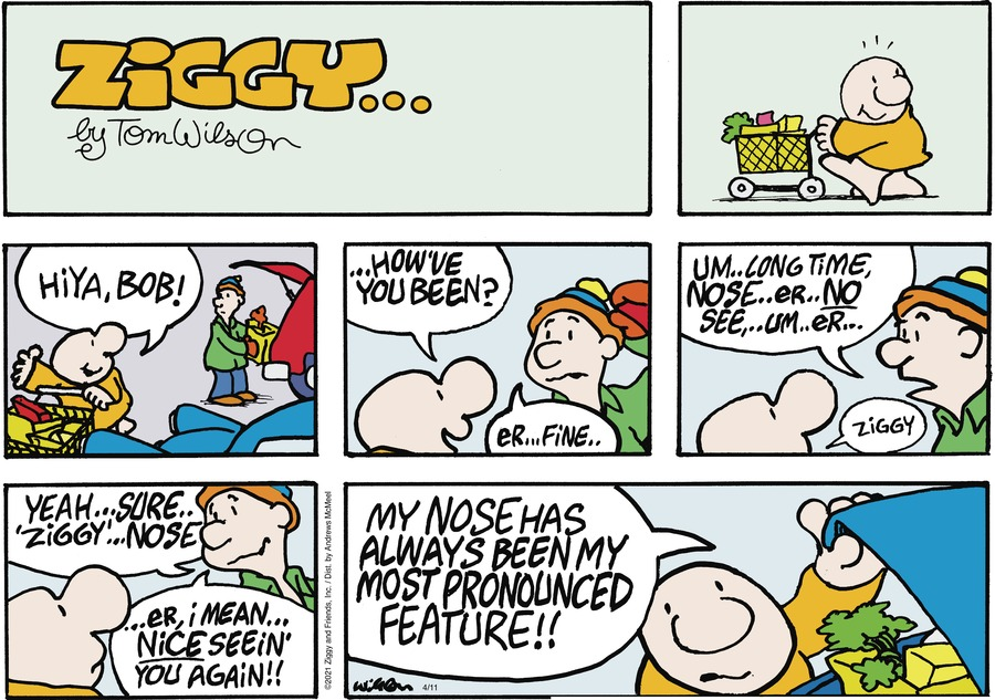 Ziggy Comic Strip for April 11, 2021