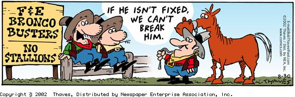 Frank and Ernest Comic Strip for August 30, 2002