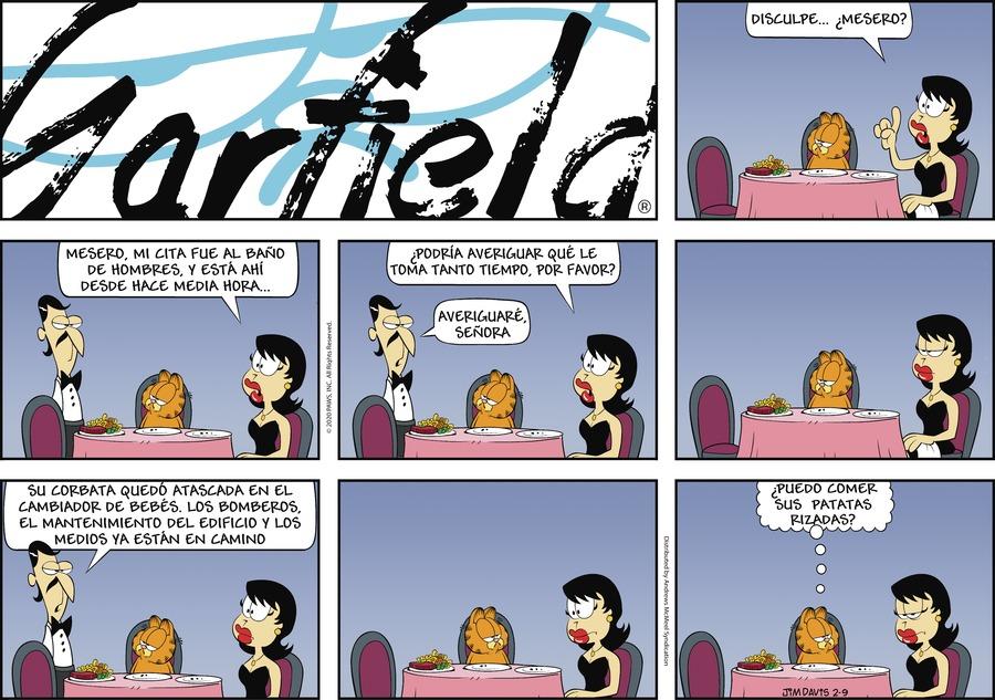 Garfield en Español Comic Strip for February 09, 2020