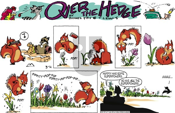 Over the Hedge on Sunday March 21, 2021 Comic Strip