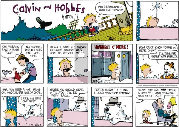 Calvin and Hobbes on Sunday May 16, 2021 Comic Strip