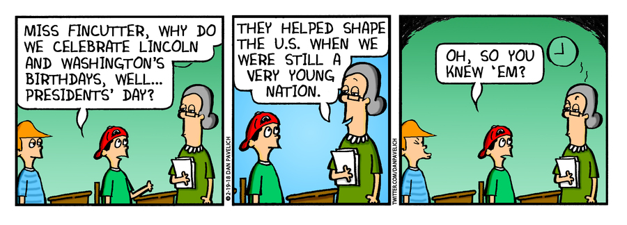 Just Say Uncle for Feb 19, 2018 Comic Strip