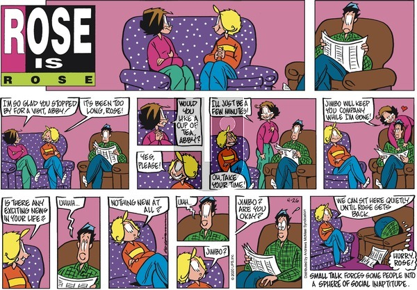 Rose is Rose on Sunday April 26, 2020 Comic Strip