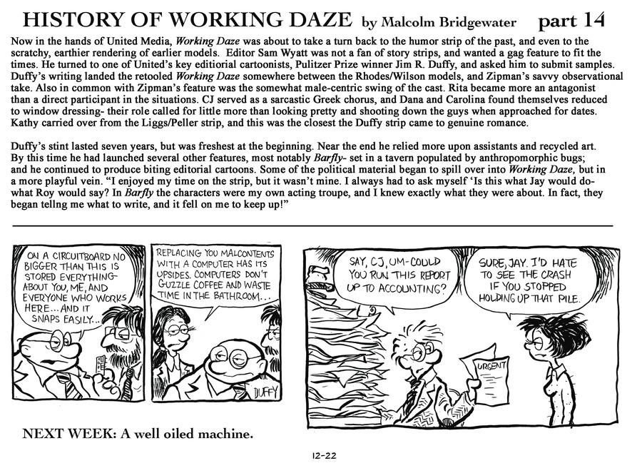 Working Daze Comic Strip for December 22, 2013