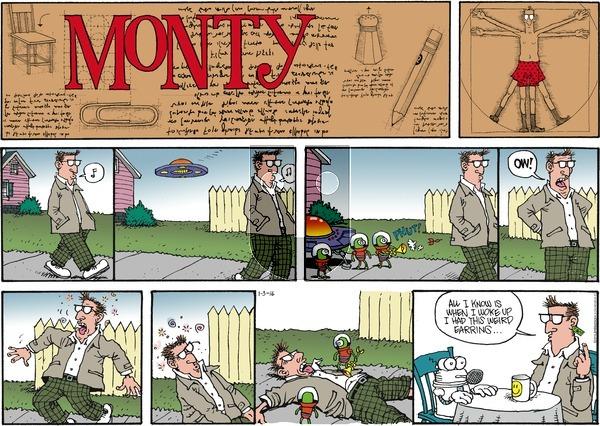 Monty on Sunday January 3, 2016 Comic Strip