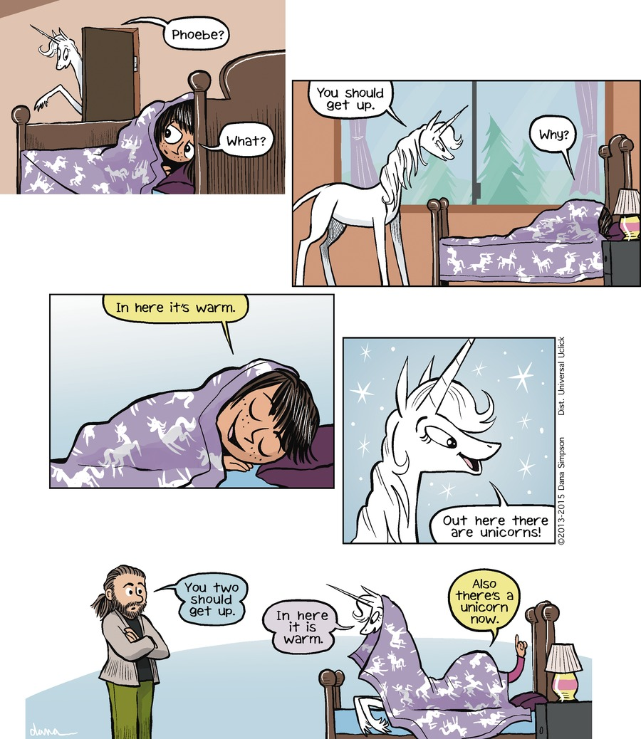 Phoebe and Her Unicorn Comic Strip for March 22, 2015