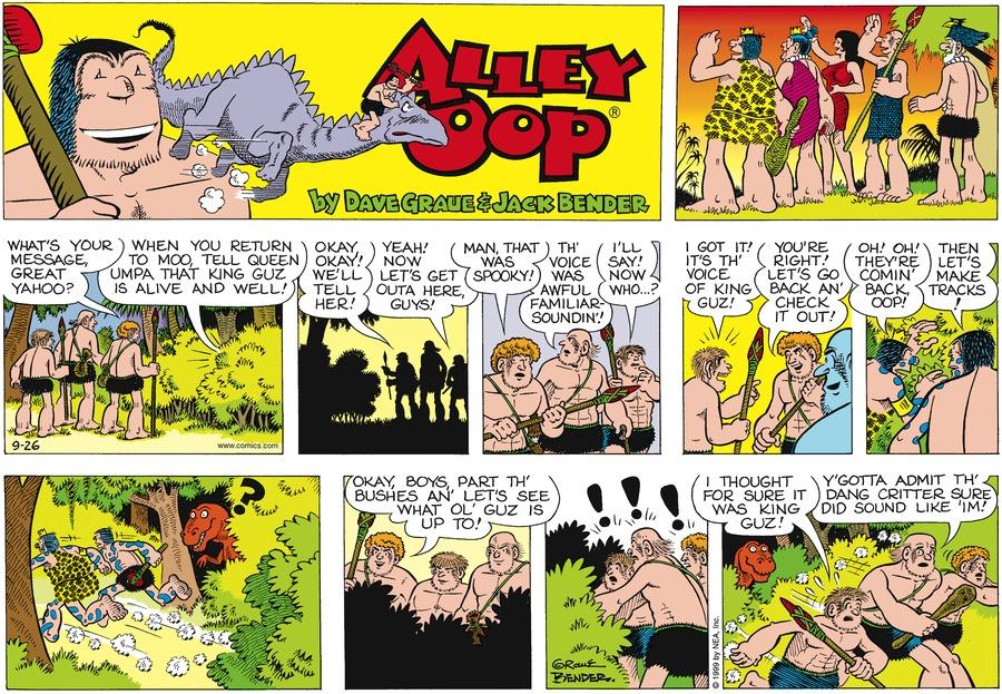 Alley Oop for Sep 26, 1999 Comic Strip