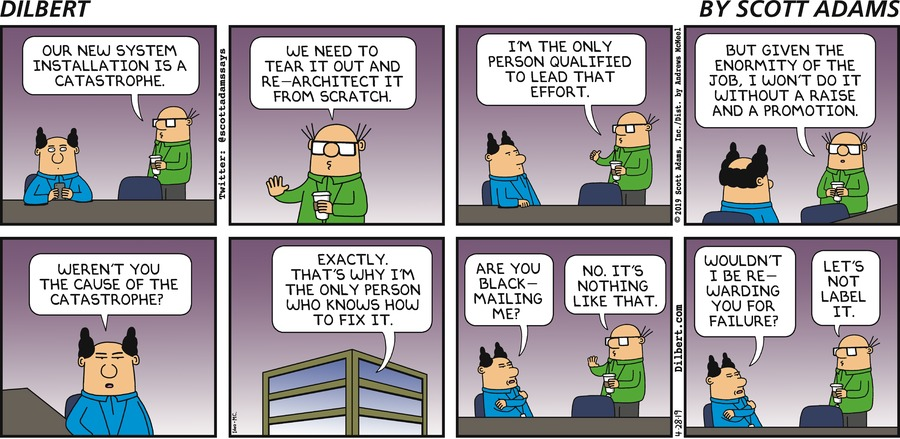 Wally Needs A Raise - Dilbert by Scott Adams
