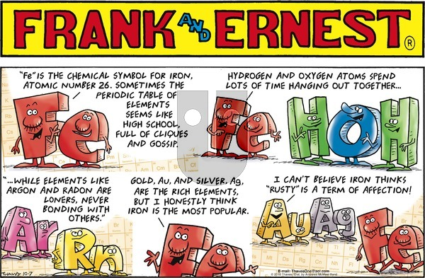Frank and Ernest on Sunday October 7, 2018 Comic Strip