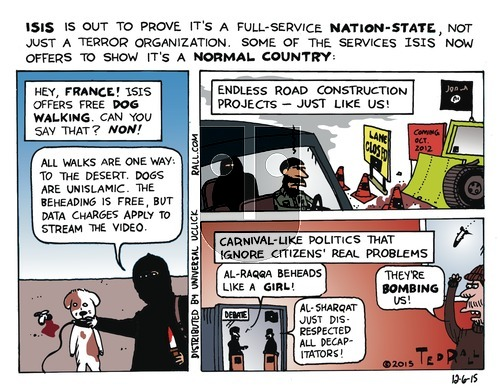Ted Rall on Sunday December 6, 2015 Comic Strip