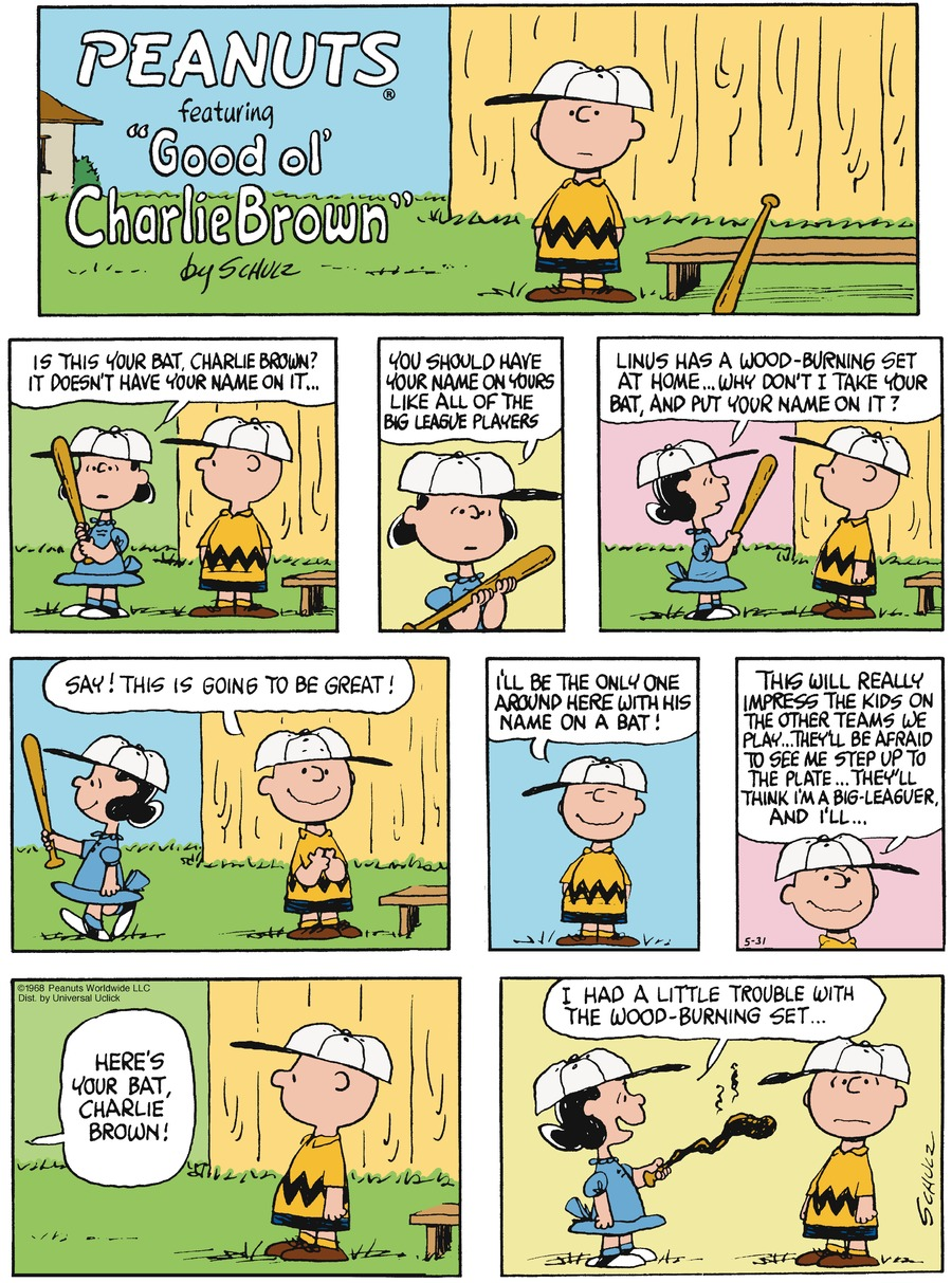 Peanuts Comic Strip for May 31, 2015