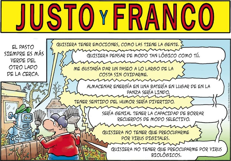 Justo y Franco Comic Strip for October 18, 2020