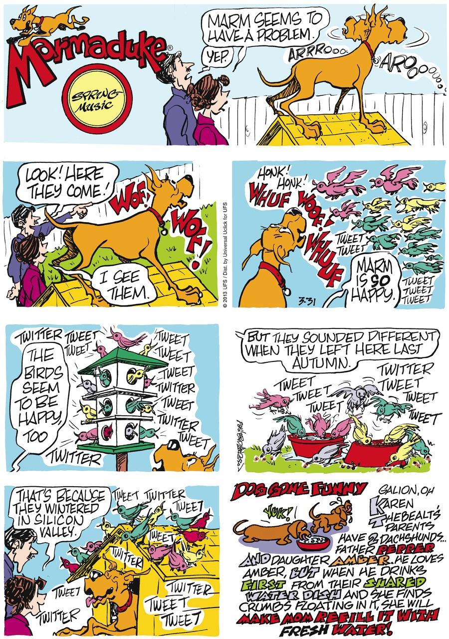 Marmaduke for Mar 31, 2013 Comic Strip