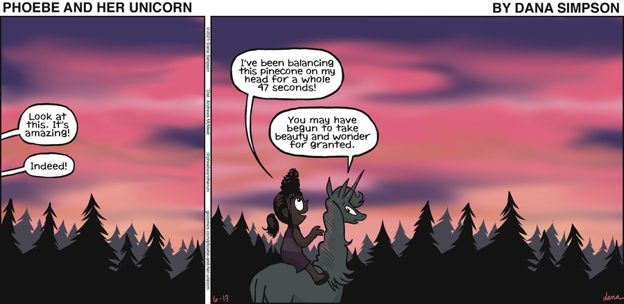Phoebe and Her Unicorn Comic Strip for June 13, 2021