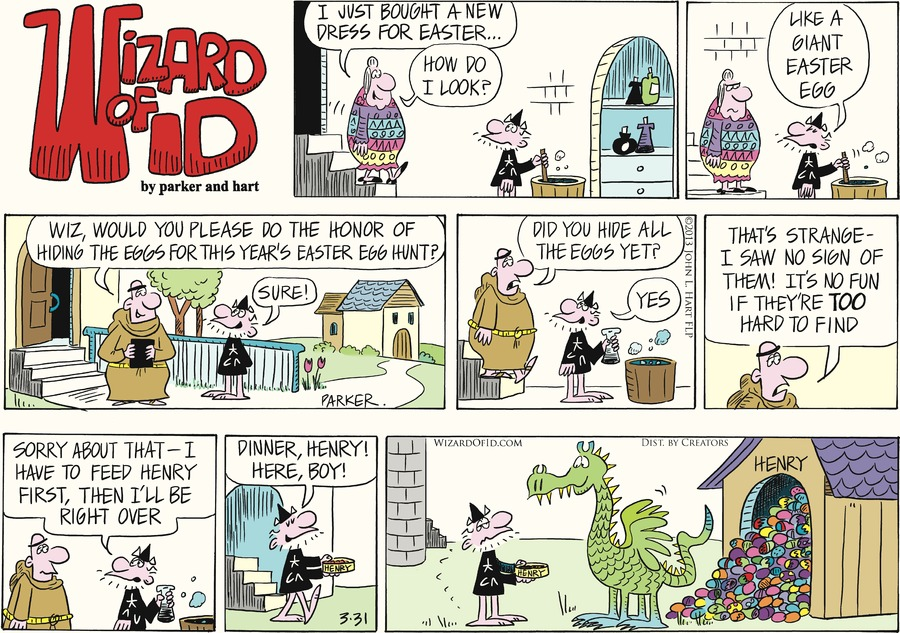 Wizard of Id for Mar 31, 2013 Comic Strip