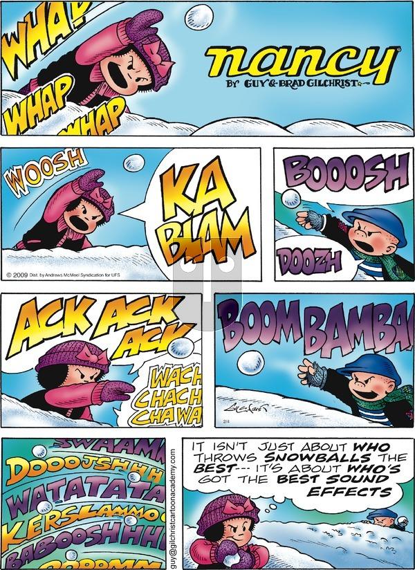 Nancy on Sunday February 4, 2018 Comic Strip