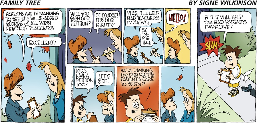 Family Tree Comic Strip for October 20, 2019