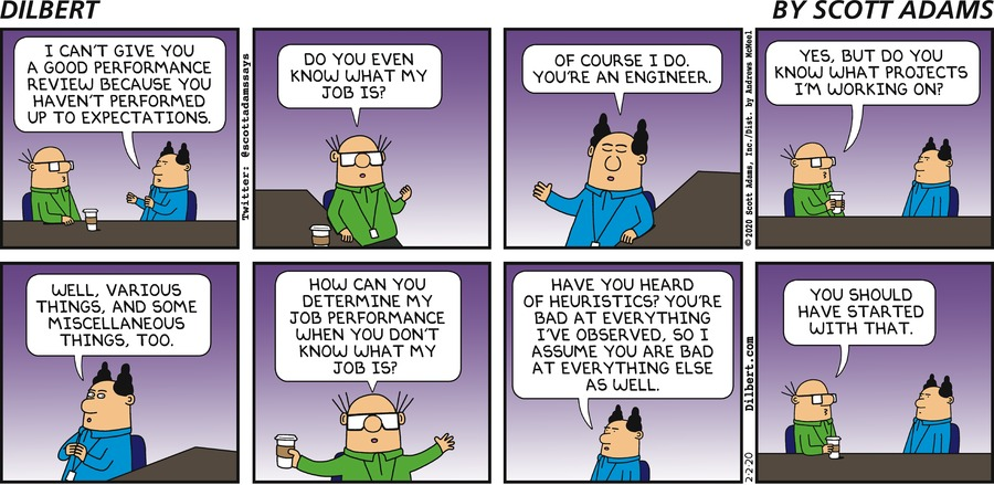 Knowing What Wally Does - Dilbert by Scott Adams