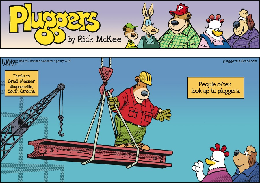Pluggers Comic Strip for July 18, 2021